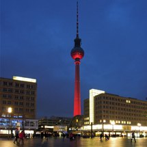 Alexanderplatz and TV-Tower at night