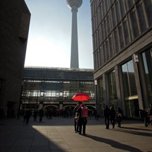 Alexanderplatz station and TV-Tower