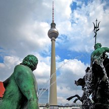 Neptune fountain and TV-Tower